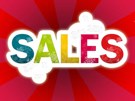 sales red background  Stock Photo