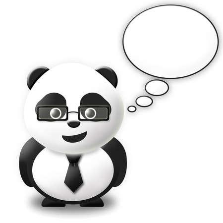 thinking bubble panda Stock Photo - 10416255