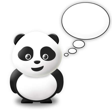 talking bubble panda Stock Photo - 10416241
