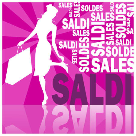 saldi, words and woman (violet)