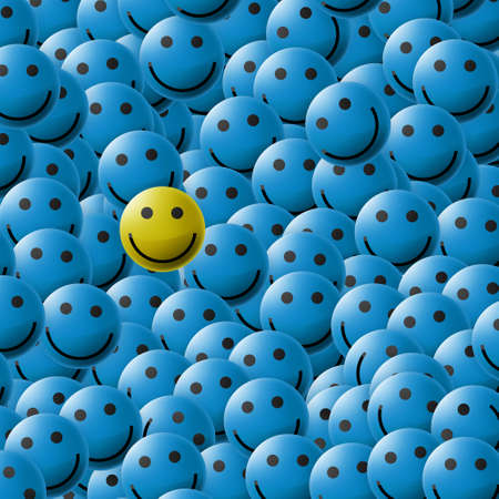 enterprising: smiles texture (blue)