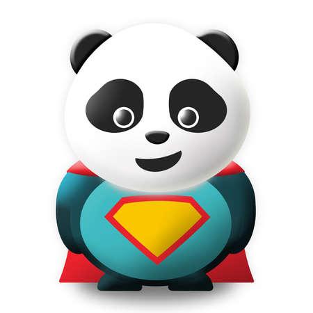 oso panda: Super panda Foto de archivo