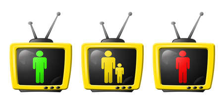 tv parental control  Stock Photo