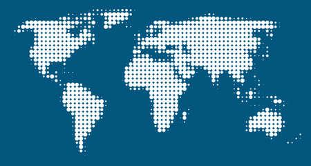 world map circles (blue background)