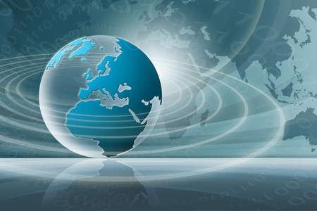 paz mundial: Noticias del mundo (azul)  Foto de archivo