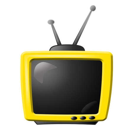 yellow tv Stock Photo - 10416221