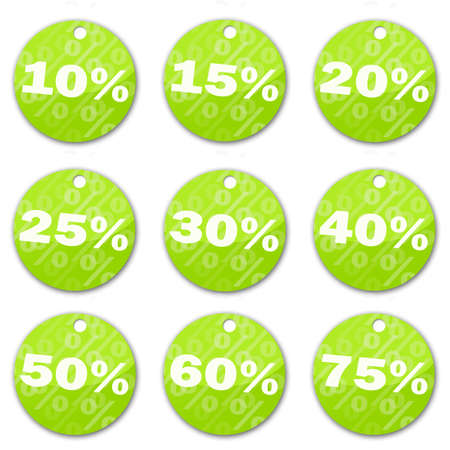 sale tags (green) Stock Photo