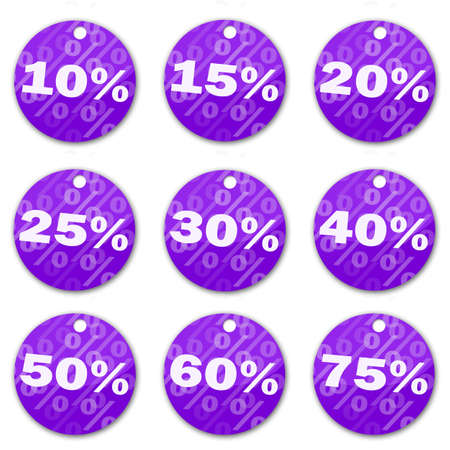 sale tags (violet) Stock Photo