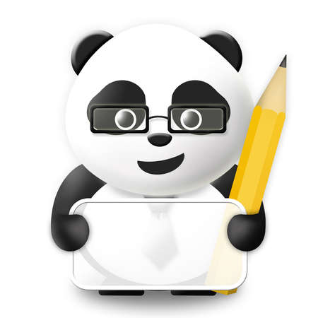 panda bear: Business Panda with empty board