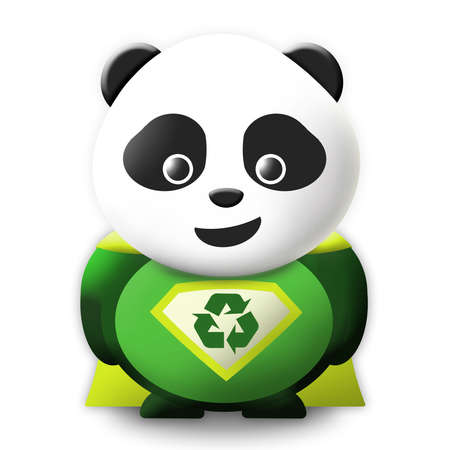 Panda Eco Superhero Stock Photo