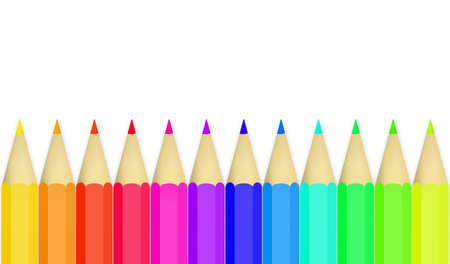 Colored pencils on white background  Stock Photo - 11977809