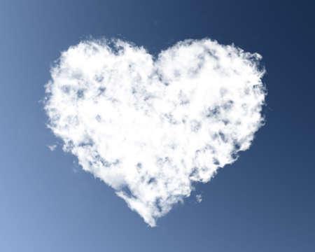 Heart cloud photo