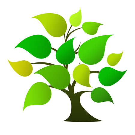 Tree logo  green