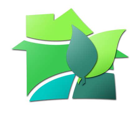 Housing green Stock Photo