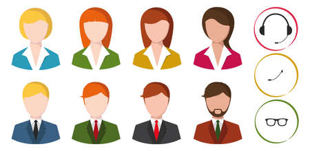 gimmick: icon of office people