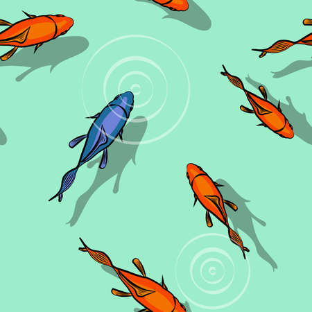 fishes: Im different (fishes pattern) Illustration
