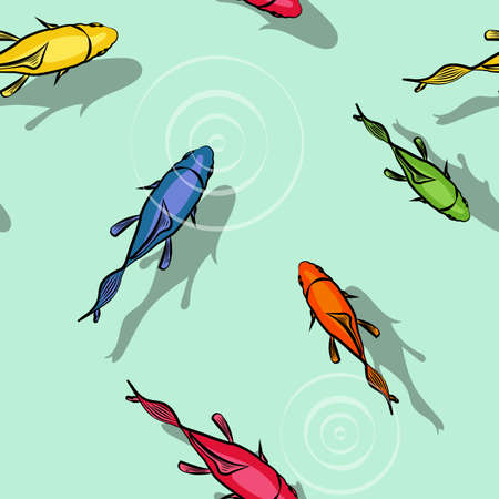 ie: Multicolor fishes pattern Illustration