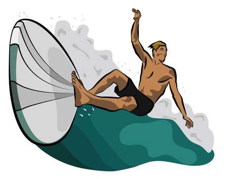 surfer icon Illustration