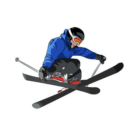 Freestyle skiing Illustration