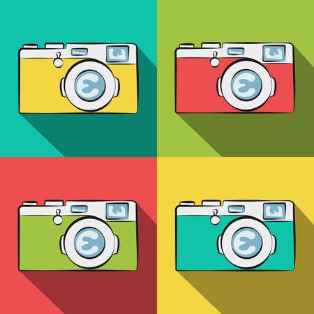 Cameras. Illustration