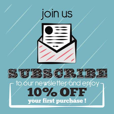 Subscribe newsletter Illustration