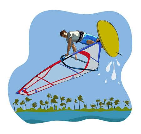 Windsurf Illustration
