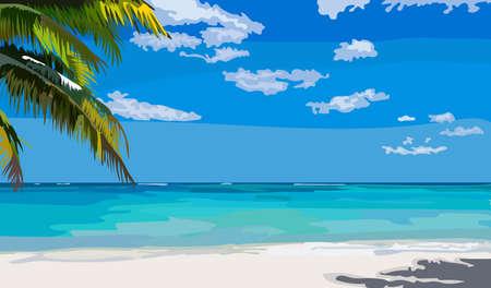 A summer and sea illustration Illustration