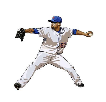 A baseball pitcher