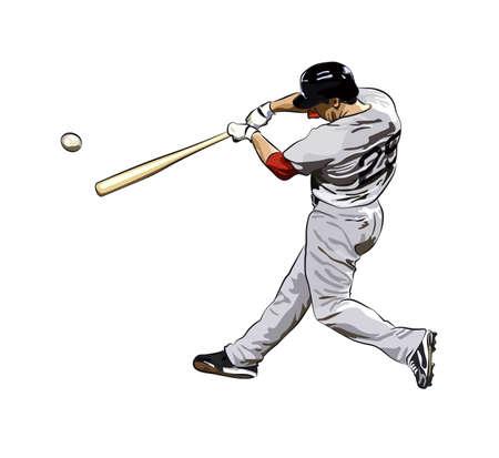 Baseball hitter Illustration
