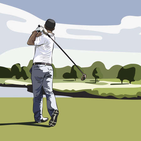 action sports: golf player
