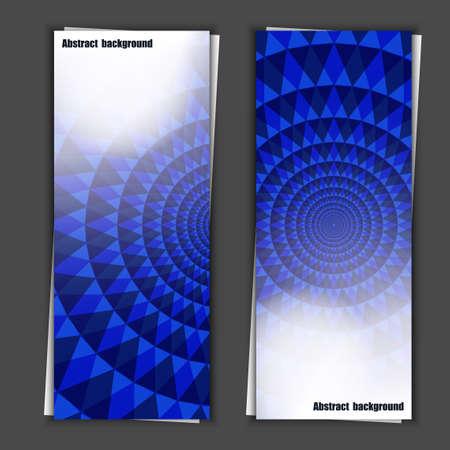 Set of banner templates with abstract background   Ilustração