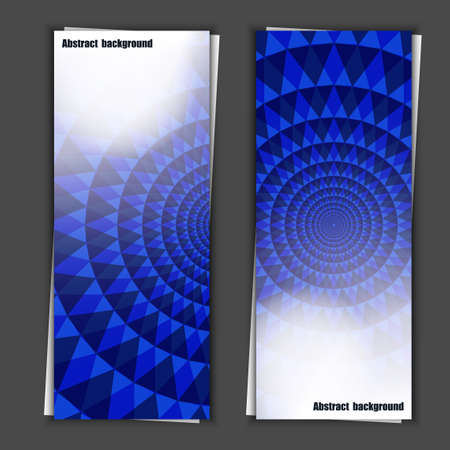 ange: Set of banner templates with abstract background   Illustration