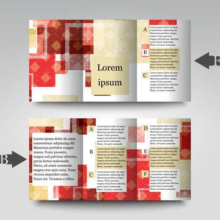 imposing: Modello di brochure con sfondo astratto