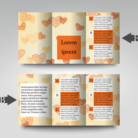 felicitation: Brochure template with abstract background Illustration