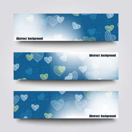 felicitation: Set of banner templates with abstract background