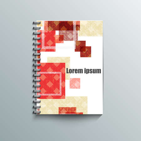 Notepad template with abstract background  Vector