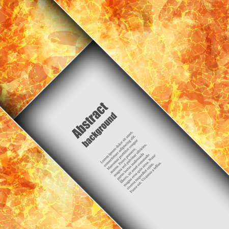 Brochure template with abstract background Vector
