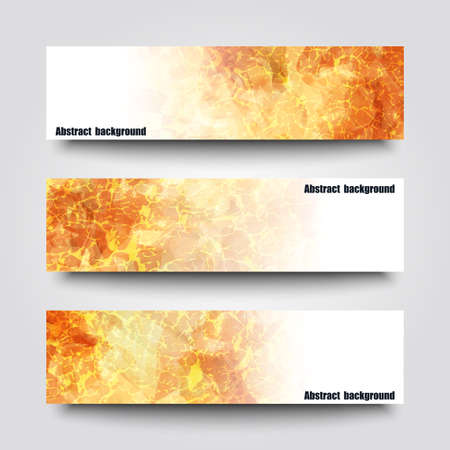 fire: Set of banner templates with abstract background. Illustration