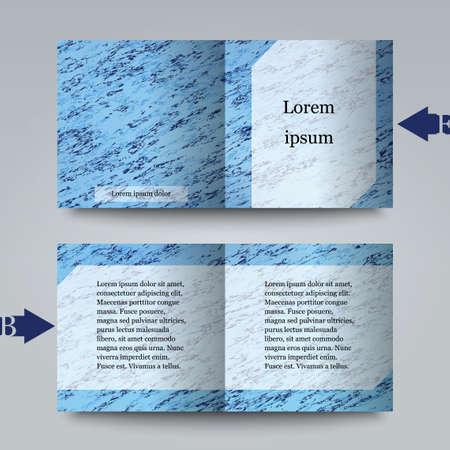 craquelure: mod�le de brochure avec un fond abstrait