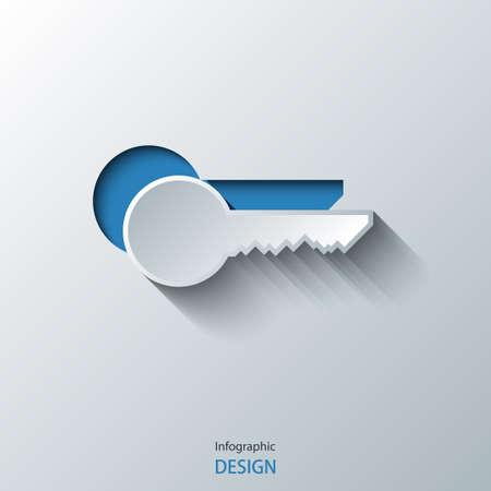 Key icon. Vector