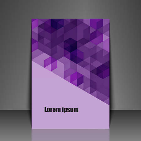 Template flyer with abstract background. Vector