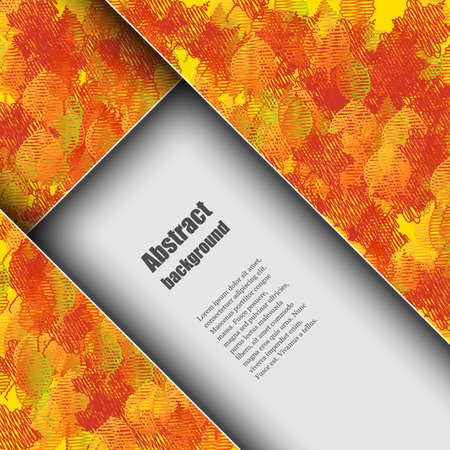 Brochure template with autumn background. Vector