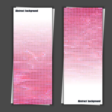 Set of banner templates with abstract background Vector