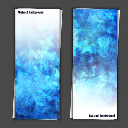 Set of banner templates with abstract background. Eps10 Vector illustration Vector