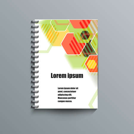 lacerated: Notepad template with abstract background.