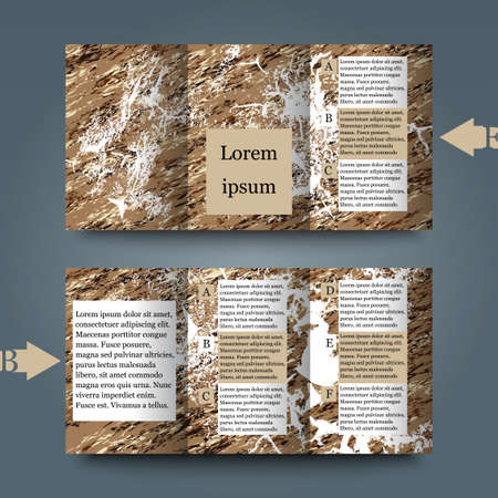 Brochure template with abstract background Illustration