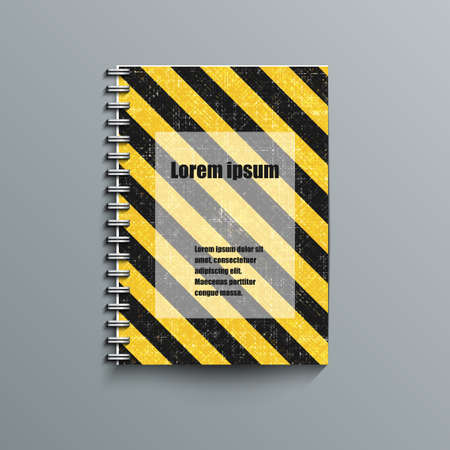 striped band: Notepad template with abstract background
