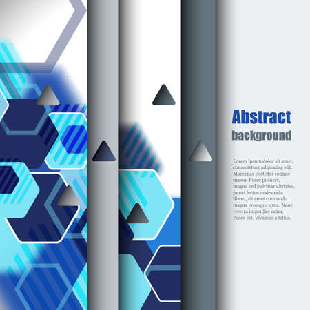 lacerated: Brochure template with abstract background. Illustration