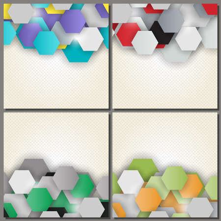 lacerated: Set of four abstract backgrounds.
