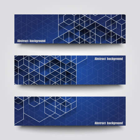 Set of banner templates with abstract background. 向量圖像